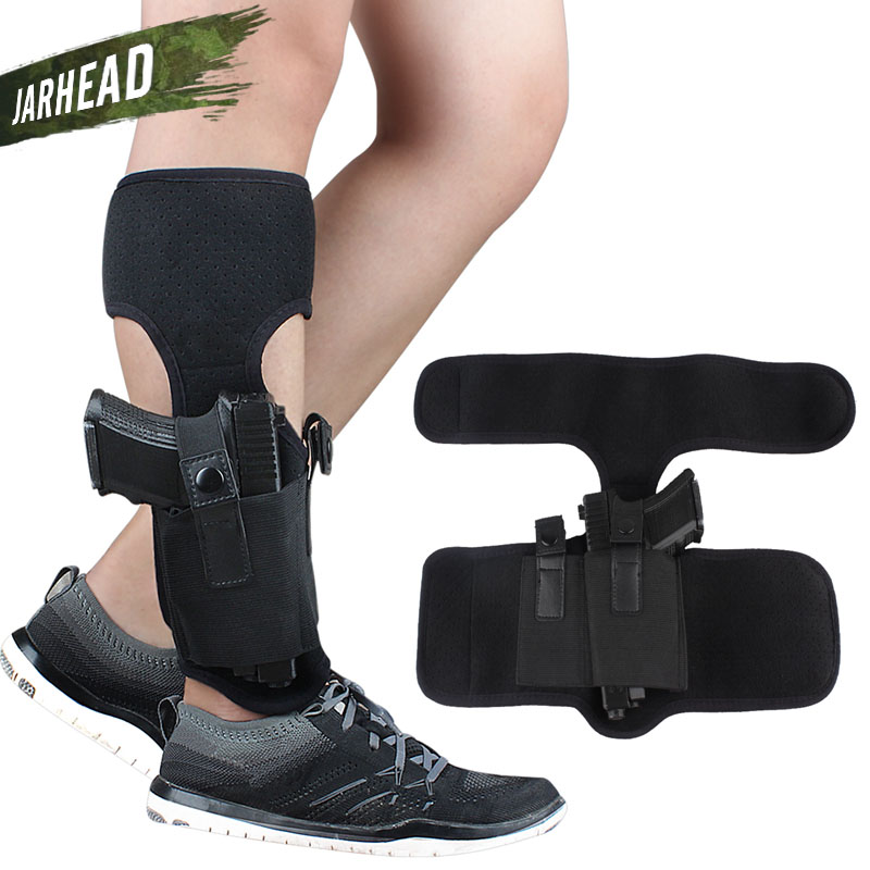 New~ Concealed Carry Ankle Leg Holster for <font><b>Glock</b></font> 17 19 22 23 26 42 43 Ruger Lcp Sig <font><b>9mm</b></font> Elastic Secure <font><b>Gun</b></font> Pistol Leg Holster image