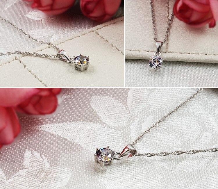 Luxe merk 100% echt 925 sterling zilveren sieradensets Luxe CZ - Mode-sieraden - Foto 5