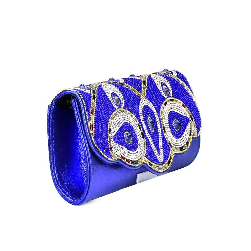 rouge Décoré Nigérien Parti Italien Noir Couleur bleu À Pour Et Royal Avec Correspondre or Bleu Ensembles Strass Sac Ensemble argent Sacs Chaussures qAEW74nEwH