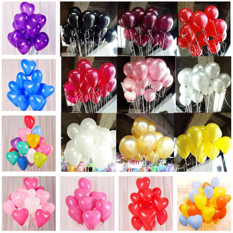 10pcs 10 นิ้ว 2.2g ลูกโป่งสีดำ Helium บอลลูนงานแต่งงานเด็ก Air ลูก Happy Birthday PARTY บอลลูน