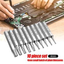 10pcs CR-V Torx Bits Set T3 T4 T5 T6 T7 T8 T9 T10 T15 T20 Mo