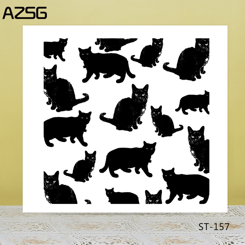AZSG Lovely Persian Cat Clear Stamps/Seal For DIY Scrapbooking/Card Making/Album Decorative Silicone Stamp Crafts