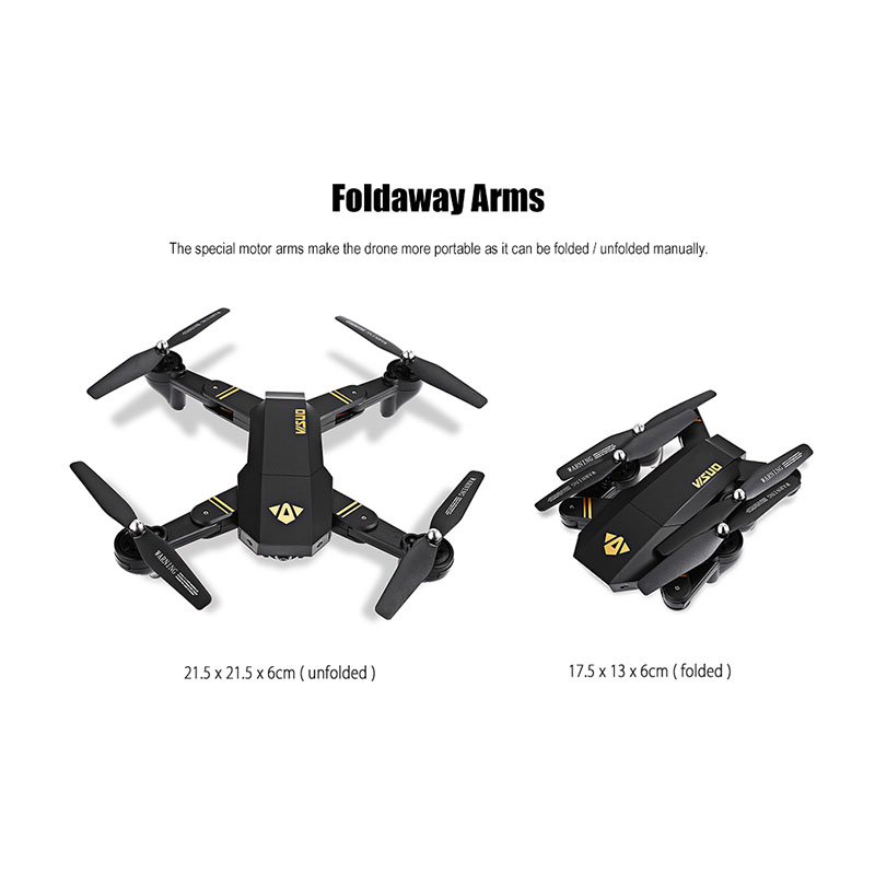 RC Dron Visuo XS809W XS809HW Mini Foldable Selfie Drone with Wifi FPV 0.3MP or 2MP Camera Altitude Hold Quadcopter Vs JJRC H47 1