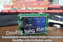 Detector formaldeído Pm2.5 casa detector de monitoramento da qualidade do ar PM2.5 neblina de poeira do sensor de medição de TFT LCD (G5/SENSOR de M5S)