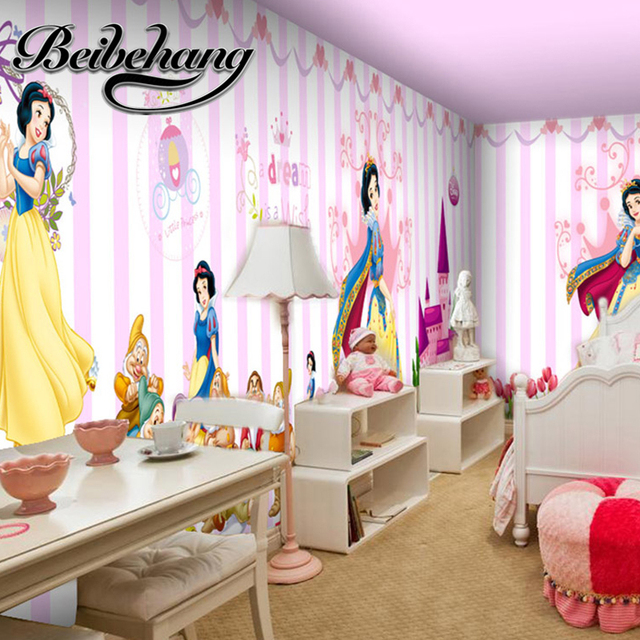 beibehang Custom Wallpapers Girls Cartoon Princess Walls Mural Walls Wallpapers Wallpapers Papel De fashion