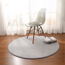 Nordic modern style cushion Round Coral fleece rug bedroom bedside mat living room coffee table carpet room decoration blanket(China)