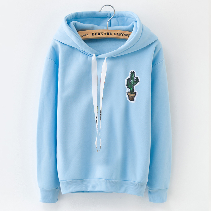 Harajuku Hoodie Women Clothing Female Long Sleeve Solid Color Hooded Sweatshirt Tracksuit Autumn Winter Coat Girl Gift
