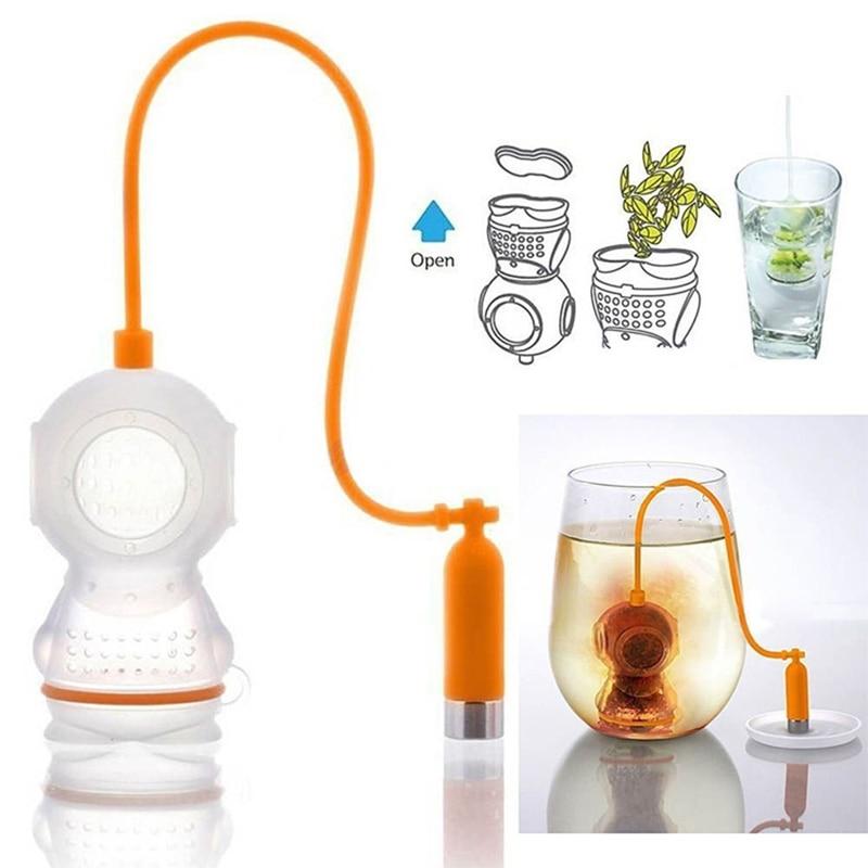 Creative Diver Tea Strainers Useful Mesh Tea Infuser Leaf Strainer Filter Silicone Teabags Tea Diffuser Tea Bag Kitchen Tools