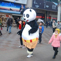 MC116 Free shipping Giant inflatable mascot costume adult inflatable panda mascot costume
