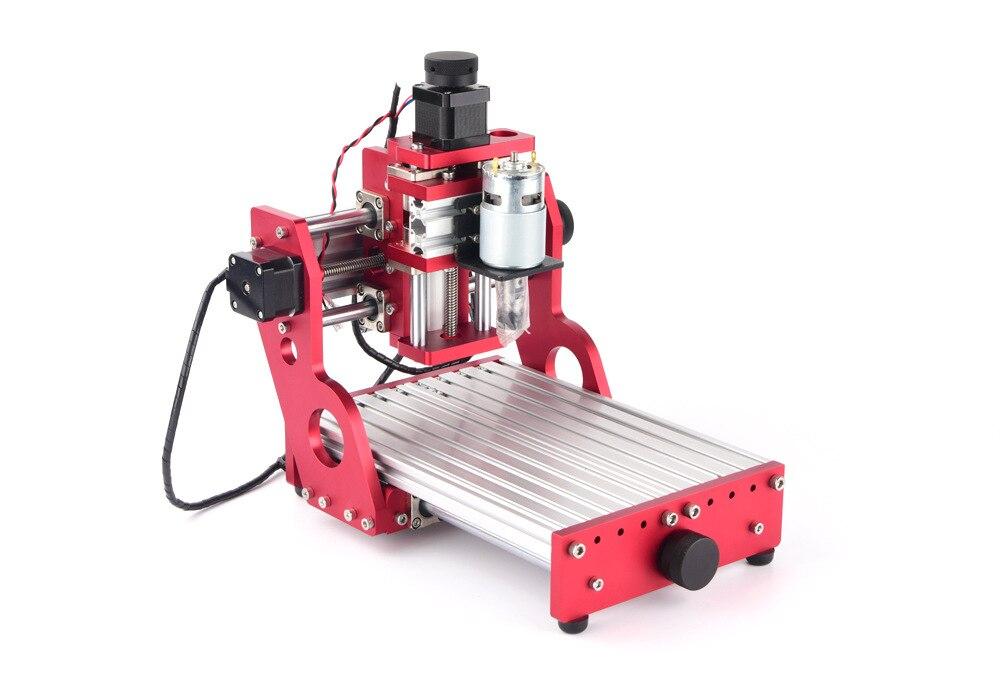 Petit Mini routeur CNC 1419 Laser Machine aluminium métal souple, cooper avec logiciel GRBL pour passe-temps