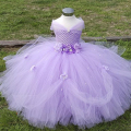 2-8Y Flower Girl Princess Dress Kid Party Pageant Wedding Bridesmaid Tutu Dresses Pink Lavender Kids Dress for Girls PT153