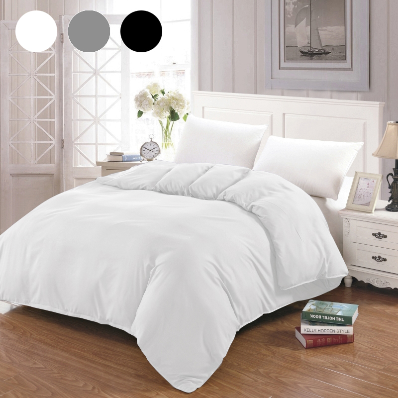 Duvet Cover White Black Gray Comforter/Quilt/Blanket Case Twin Full Queen King Double Single Bedding 220x240 200x200 150 Hot