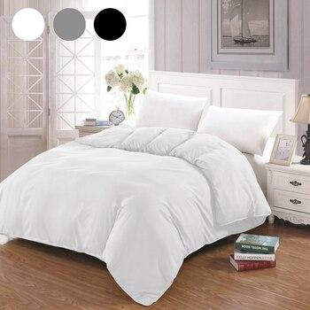 Duvet Cover White Black Gray Comforter/Quilt/Blanket case Twin Full Queen King double single Bedding 220x240 200x200 150 Hot