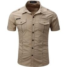 2016 Новый Мужчины Грузовые Рубашки Дизайнер Бренда Camisa Masculina Мода Повседневная Сорочка Homme T0050