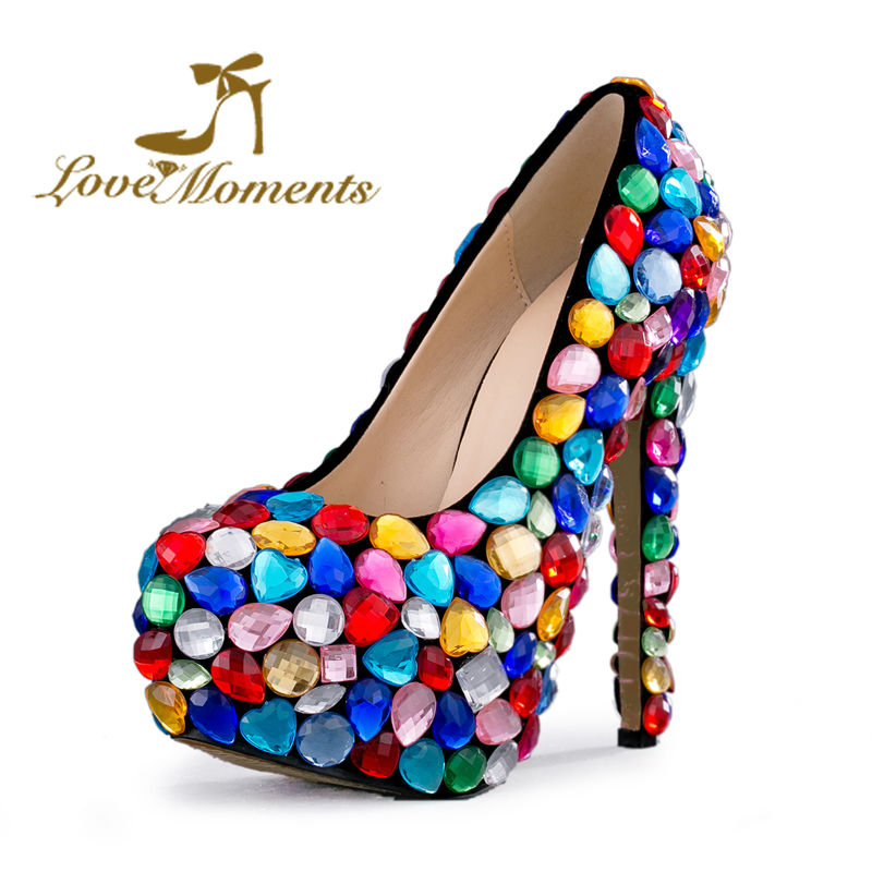 Mix Color Crystal Wedding Shoes Handmade Red Blue Pink Cinderella Prom Party Heels 14cm High Heel Graduation Ceremony Pumps cinderella high heels crystal wedding shoes 14cm thin heel rhinestone bridal shoes round toe formal occasion prom shoes