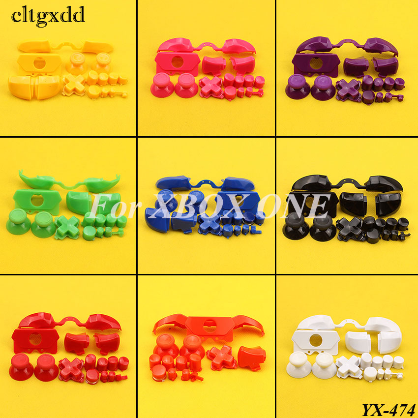 Cltgxdd Full Button Sets Mod Replace Dpad ABXY Trigger Thumbstick Parts For Microsoft Xbox One Controller Chrome Solid/Plastic
