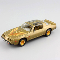1:43 Scale mini 1979 Pontiac Firebird trans AM classic old Muscle car vehicle auto metal diecast model toys gold gift for boys
