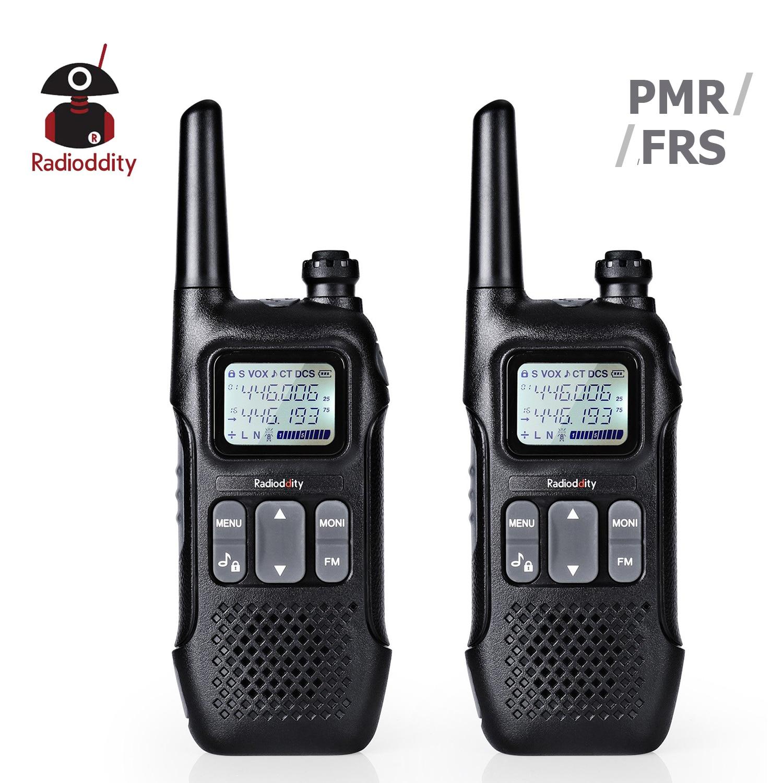 Radioddity Radio-License-Free Walkie Talkies Two-Way PMR 2pcs PR-T1 FRS 2W NO with NOAA