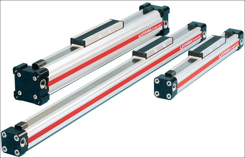 PARKER ORIGA Pneumatic Rodless Cylinders   OSP-P32-00000-01000 Bore 32mm and stroke 1000mm Total length 1250mm parker origa pneumatic rodless cylinders osp p63 00000 01300
