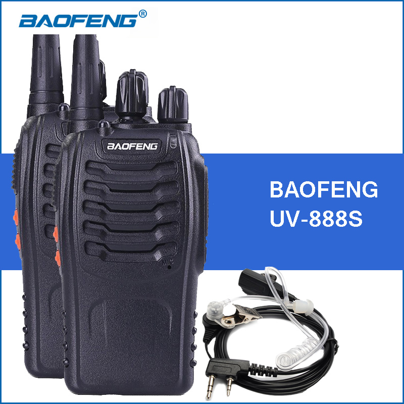 bilder für 2 teile/los baofeng bf-888s walkie talkie uhf 400-470 mhz 888 s portable walkie-talkies bf888s handheld funkgeräte radio communicator