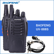 2pcs/lot Baofeng BF-888S Walkie Talkie UHF 400-470MHZ 888s Portable Walkie Talkies BF888S Handheld Two Way Radio Communicator