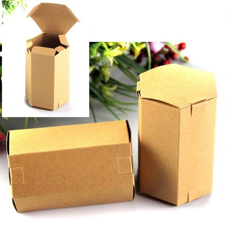 50pcs Lot 4x11x6cm Tea Packaging Cardboard Kraft Paper