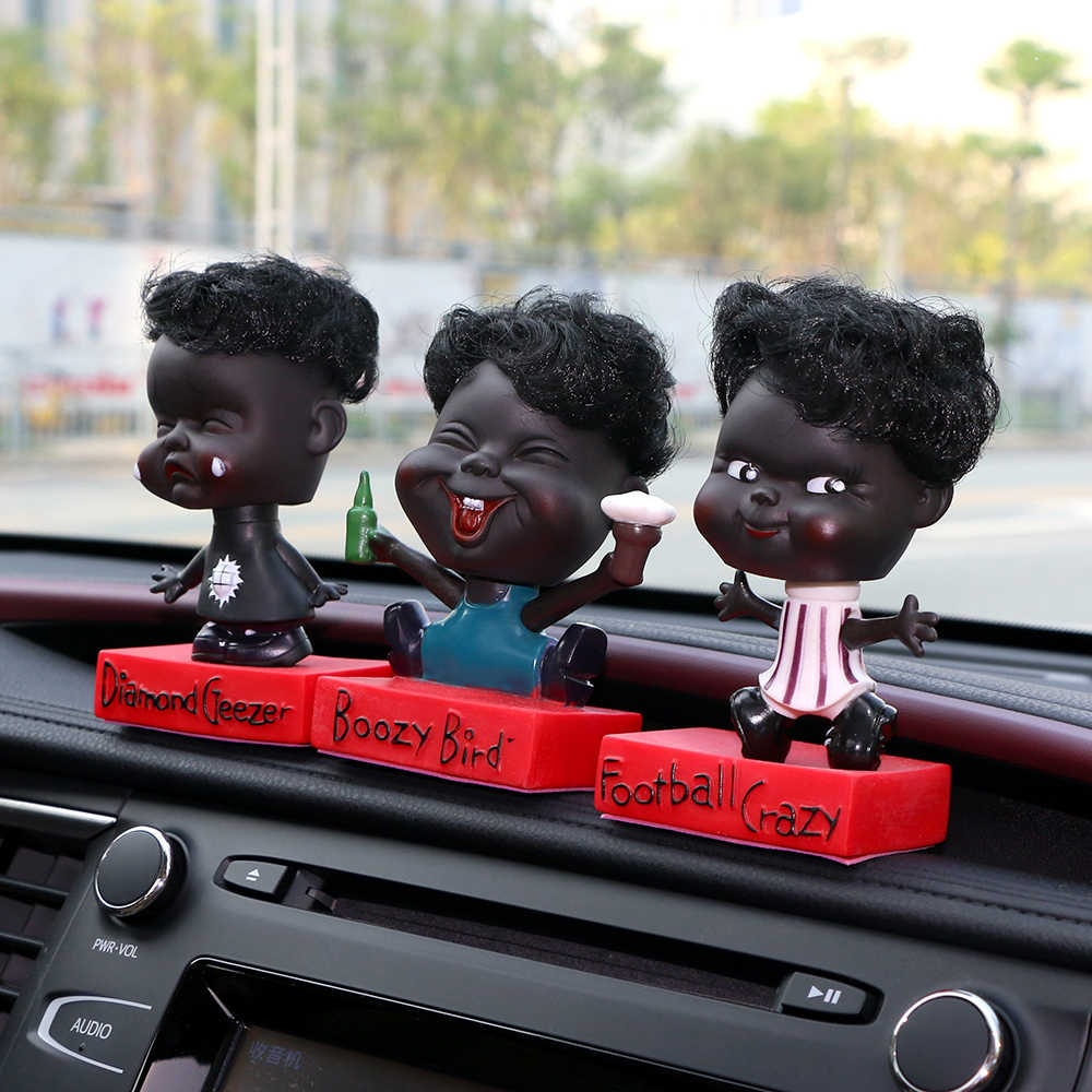 Автомобиль орнамент мультфильм ребенок смешное Экспрессия встряхнуть голову игрушка украшение авто Интерьер приборной панели отделка Украшение Аксессуары подарок