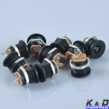 10pcs Effect Pedal DC Power Supply Jack Socket 2.1mm Screw Nut High Quality DIY