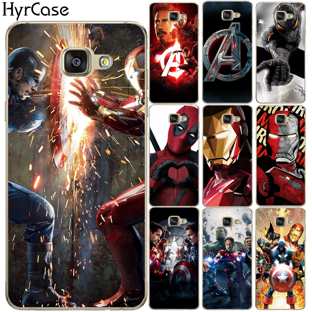 Galleria fotografica Super Cool Heros Avengers Print Soft TPU Silicone Case Cover For Coque Samsung Galaxy A3 A5 A7 A8 Plus 2015 2016 2017 A7 2018