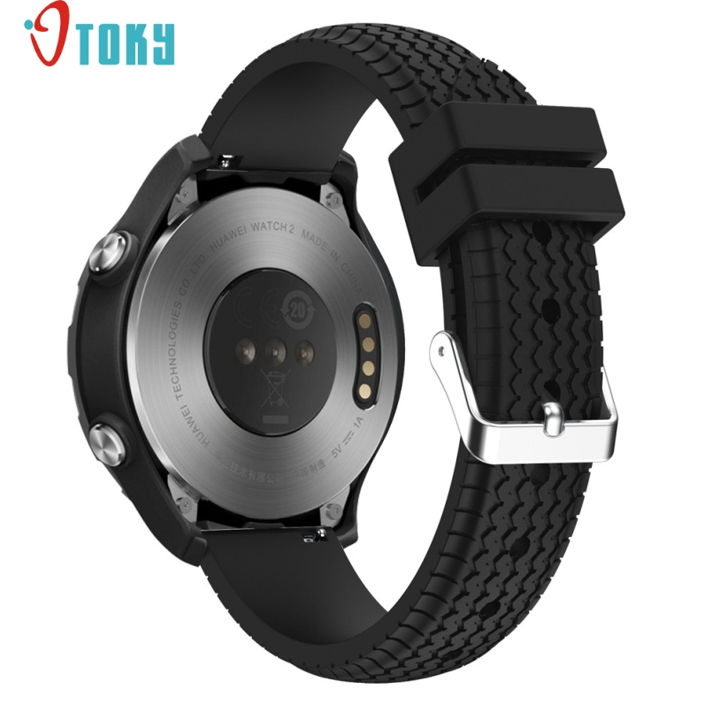 Excellent Quality 22mm Silicone Rubber Watchband Quick Release for Huawei Watch 2 Smartwatch Band Strap Bracelet Mar 27