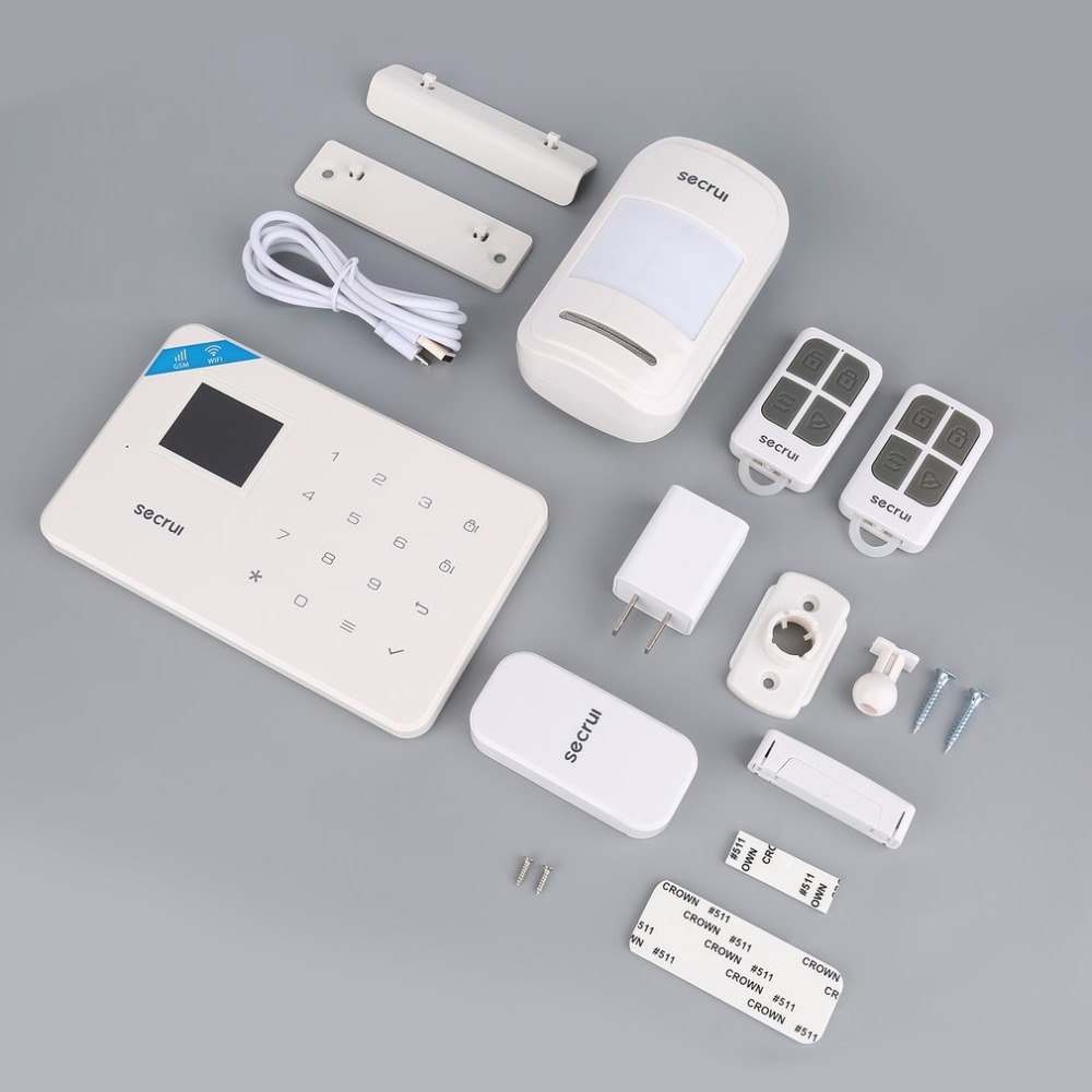 Voice GSM Alarm Autodial Home Security and Fire Protective Alarm System for iOS for Android App Sensor White Shell wireless smoke fire detector for wireless for touch keypad panel wifi gsm home security burglar voice alarm system