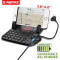 Remax Universal Mobile Phone Car Holder For GPS iPad iPod iPhone Samsung XiaoMi HuaWei P8 Lite Car Holder 2 Head Cable