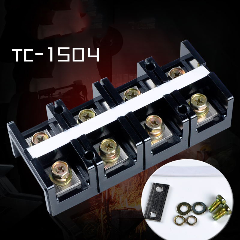 цена на ELECALL Dual Row Screw Terminal Block StripTC-1504  600V 150A  4 Positions