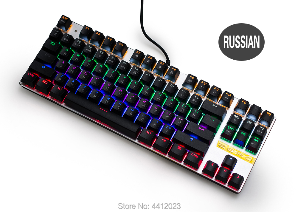 METOO ZERO Gaming Mechanical Keyboard Blue/Black/Red Switch Anti-ghosting Backlight Teclado Wired USB for Gamer English/Russian