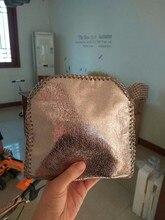 Mini 18cm ROSE GOLDEN Shaggy Deer pvc 3 Chain Crossbody Bag lady handbag