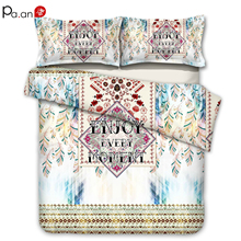 Brushed Cotton Bedding Set Bohemia Duvet Cover Pillowcase Bed Sets Twin King Queen Size Luxury Comforter Boho Full 3pc