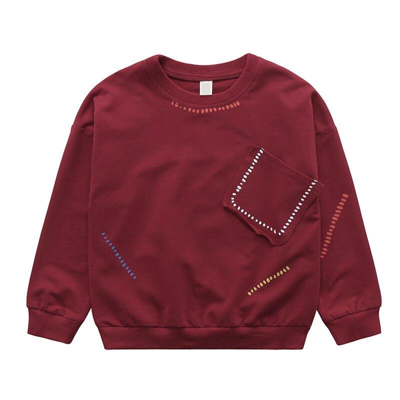 2018 Spring Autumn Sweater Kids Sweatshirt Baby Boys Hoodie Children Comfortable Soft Fashion Personality Pocket Quality Fleece