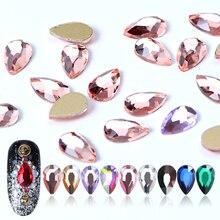 10pcs Crystal Nail Rhinestones 3D Strass Fat Water Drop Stones AB Art Decorations Nails Accessories Diamond Manicure BEA41