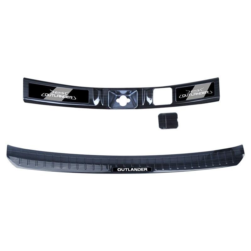 Panneau de rebord de fenêtre arrière en acier inoxydable de haute qualité, seuil de protection de pare-chocs arrière pour Mitsubishi Outlander 2019 style de voiture