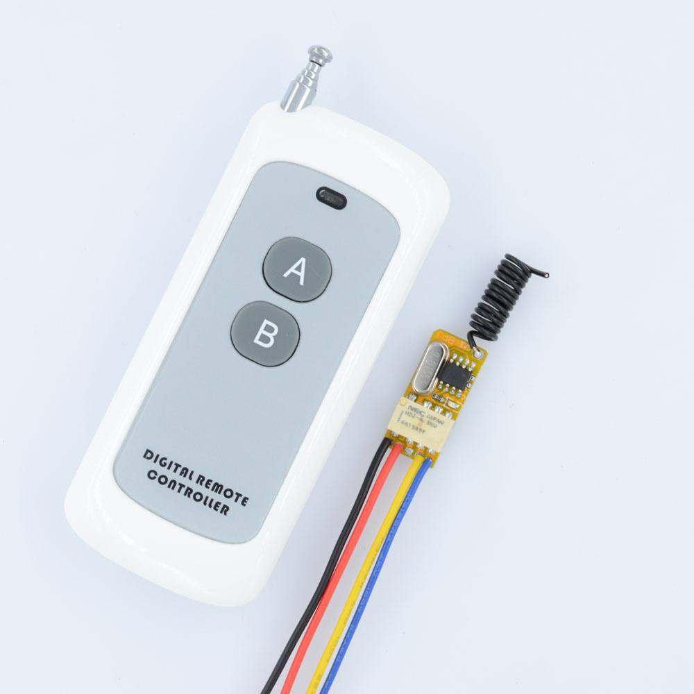 DC 3.7V 4.2V 4.5V 5V 6V 7.4V 9V 12V Mini Relay Switch Contact NO COM NC Remote ON OFF Wireless Switch Normall Closed Open dc 12v relay remote switch no com nc contact wireless switch 2a relay rf rx normally open close lithium aaa battery supply ask