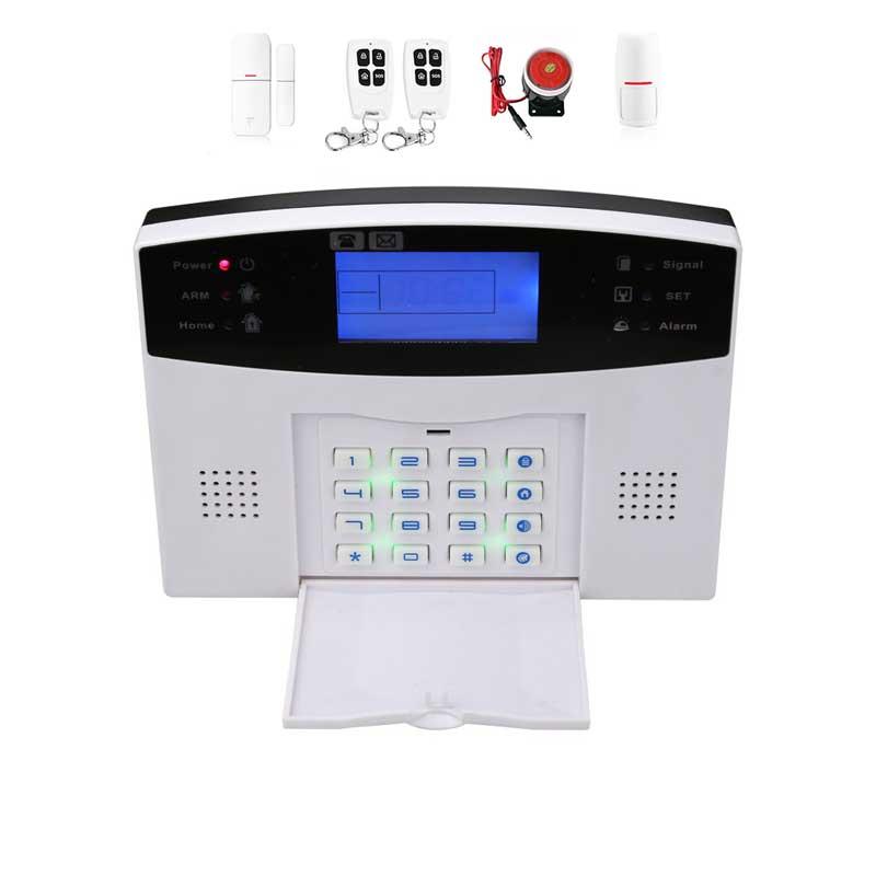 Système de sécurité d'alarme anti-vol à écran TFT sans fil GSM avec contrôle d'application Mobile à domicile intelligent Six langues avertissement Audio bidirectionnel