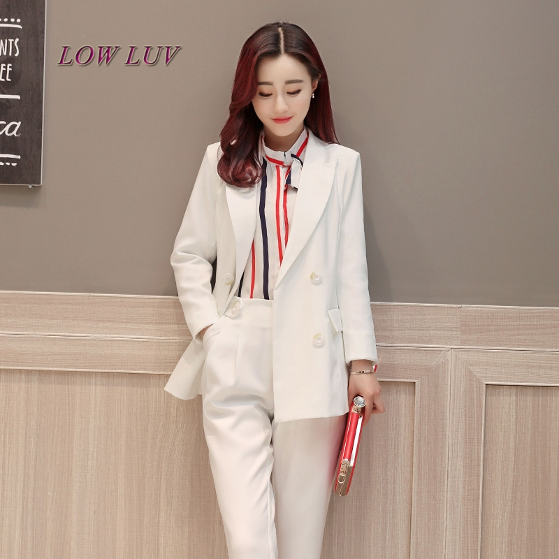 Fall fashion suit suit female career suit jacket and long sections temperament casual two-piece pants tideThe NewdoTB328
