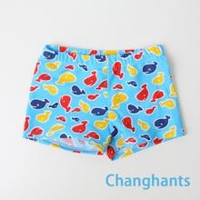 Baby boy's swiming trunk color light blue whale pattern fit 2-4 years old little boys gbtiger blue others old