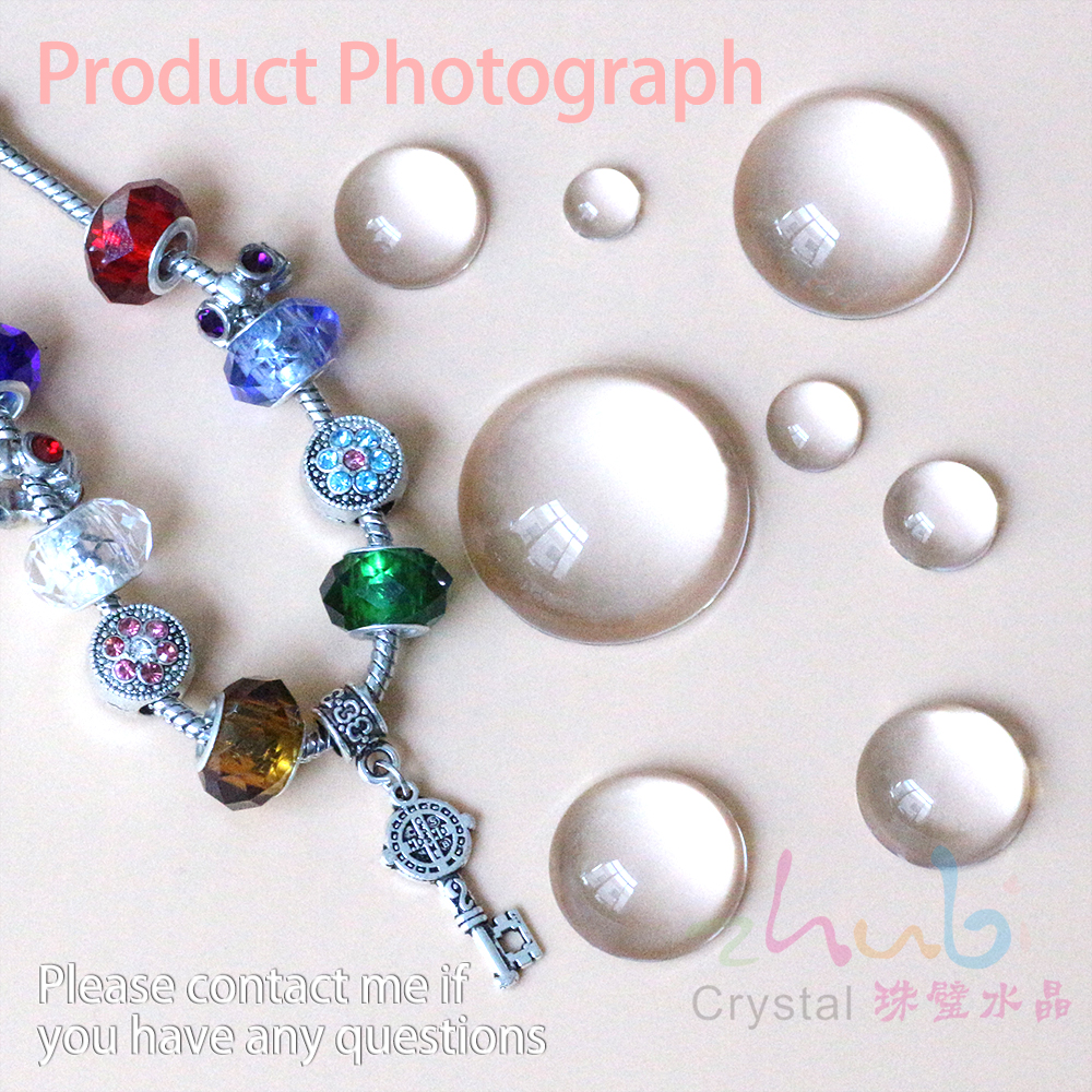 Jewelry Design Supplies Flat Bottom Clear Beads 8 50mm Hemispherical