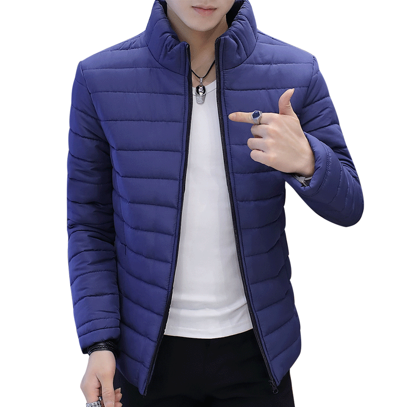 Winter Men Jacket 2018 Brand Casual New Solid Color Simple Mens Jackets And Coats Thick Parka