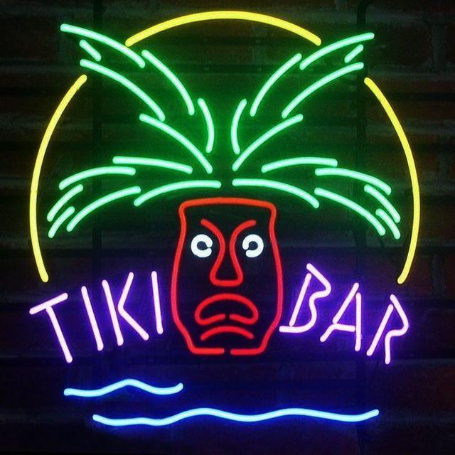 Custom Tiki Bar Totem Pole Neon Light Sign Beer Bar