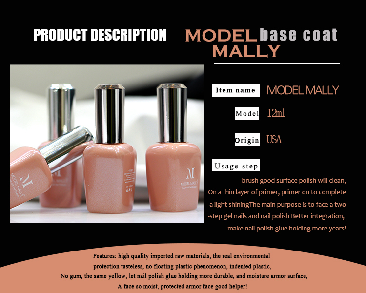 Model mally 12ml Base coat Uv Gel Nail Polish Primer Nail Art-in ...