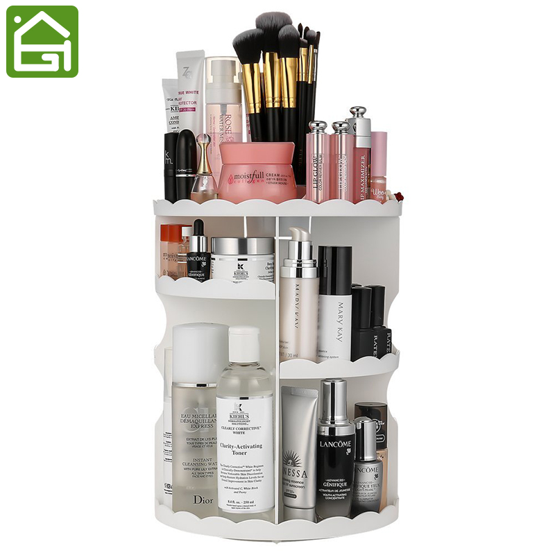 Extra Large Capacity 360 Degree Rotating Makeup Organizer