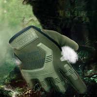 Anti Slip Herren Airsoft Panitball Taktische Kampf Handschuhe im freien handschuhe Guantes Militares Jagd handschuhe Volle finger