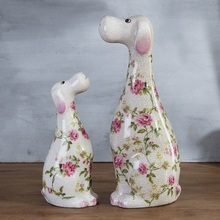 ceramic dogs decoration simulation fortune Feng Shui home furnishings living room creative gifts crafts zodiac cer